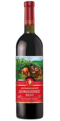 Азербайджанское домашнее вино полусладкое красное