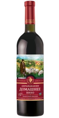 Азербайджанское домашнее вино полусухое красное