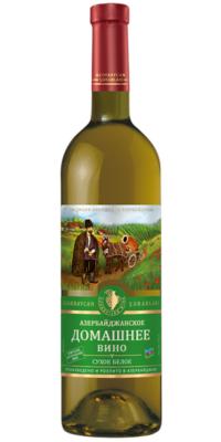 Азербайджанское домашнее вино сухое белое