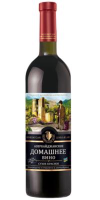 Азербайджанское домашнее вино сухое красное